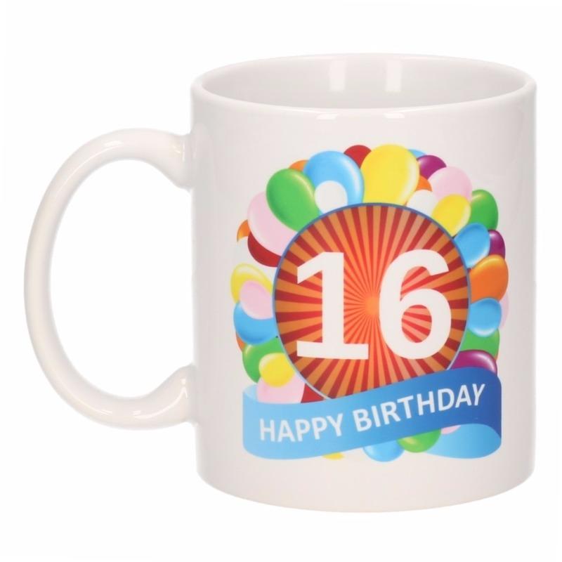 16e Verjaardag Cadeau Beker Mok 300 Ml In De Kinderondergoedwinkel